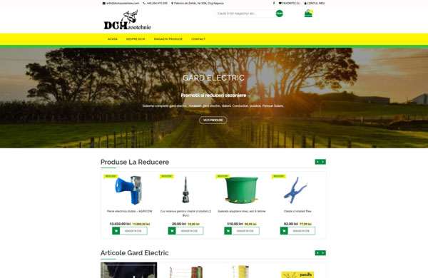 Web Design Cluj DCM Zootehnie SilvexStudio