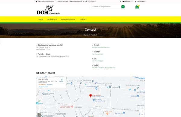Harta Contact DCM Zootehnie