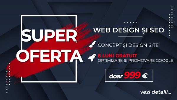 Oferta web design SEO Cluj